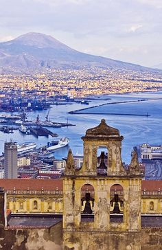 Amazing view of the Vesuvius , Naples, Italy