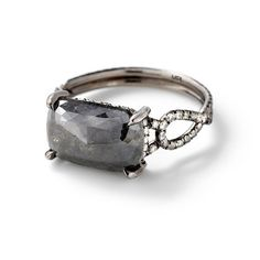 Wow.....total perfection...edgy and girly at the same time.  SO ME! --- Pamela Love | MPL 3.90 Carat Grey Diamond Ring