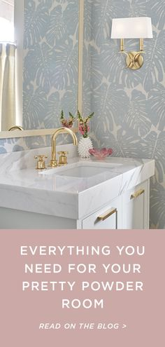 Shop powder room essentials like wallpaper, lighting fixtures, vanities and bathroom storage. Here's how to put together a stylish powder room that's sure to impress your guests. Powder Room Storage, Powder Room Vanity, Powder Room Wallpaper, Bathroom Storage, Bath Powder, Toilet Storage, Bathroom Faucets, Powder Room Lighting, Powder Room Decor