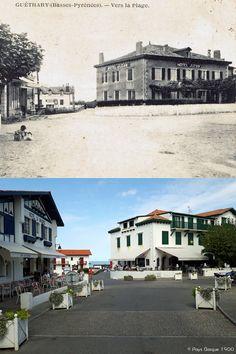 Pays Basque 1900: Le patrimoine de Guéthary 1ère partie Biarritz, Basque Country, France, Illustrations, Mansions, House Styles, Vintage, Tourism, Manor Houses