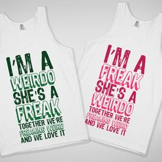 laneenglish617's save of More Matching Paired BFF tanks, hoodies, and t-shirts in the 'Best Friends' Collection! on Wanelo