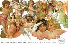 This is a massive bundle of vintage/antique Victorian graphics and clip art featuring illustrations of women, children, shoes, teacups, angels, fruit, leaves and more. This set features 200 individual