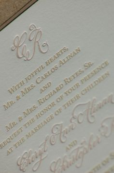 Letterpress Wedding Invitations  DEPOSIT by DancingPenandPress, $100.00