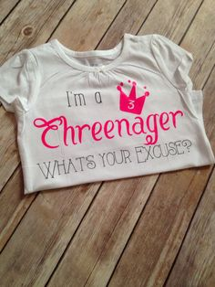 I'm a Threenager what's your excuse top/Funny shirt by BespokedCo