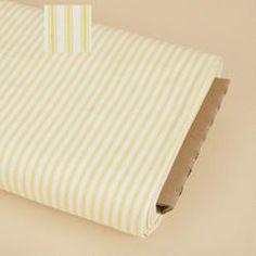 Sun Yellow Stripe Ticking Fabric
