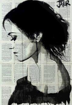 "Saatchi Art Artist Loui Jover; Drawing, ""eva"" #art"