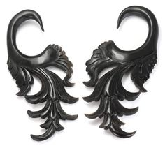 THE ESSENCE Wholesale Horn Hanger Organic Body Jewelry 12g - 00g - Price Per 1 :: Plugs Body Jewelry :: Painful Pleasures, Inc.