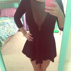 Black American Apparel mesh dress Black mesh dress, only worn a few times, great condition! American Apparel Dresses Mini