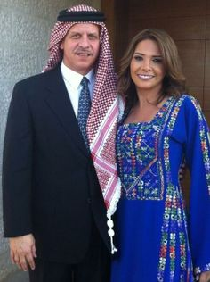 Prince Feisal of Jordan, son of King Hussein and second wife Antoinette.  Brother of the current King Abdullah.  Here with and his  third wife Zeina