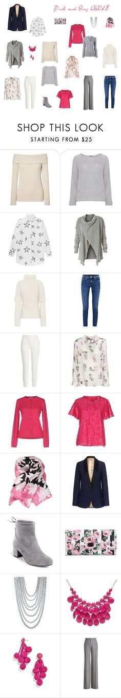 """""""Pink and Grey  AW18"""" by cokie61 on Polyvore featuring Dolce&Gabbana, Samoon, Être Cécile, Royal Robbins, Victoria Beckham, Acne Studios, Joseph, Miu Miu, malo and VDP"""