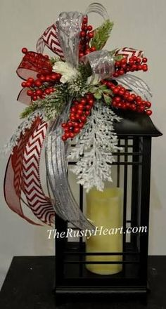 Image result for how to make a christmas lantern swag
