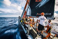 February 18, 2015. Leg 4 to Auckland onboard Team Alvimedica. Day 10. Ryan Houston aims Alvimedica for his home country of New Zealand. - Amory Ross / Team Alvimedica / Volvo Ocean Race