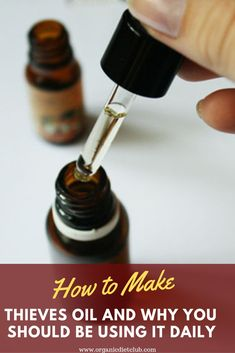 Remedies Thieves oil is actually a blend of more oils, and there is an interesting story behind its name. Check out how to make your own Herbal Remedies, Health Remedies, Home Remedies, Natural Cures, Natural Health, Natural Treatments, Natural Oil, Alternative Treatments, Natural Foods