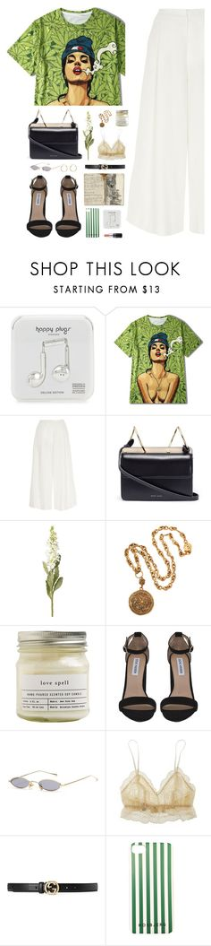 """""""Untitled #2524"""" by danielasilva12 ❤ liked on Polyvore featuring Happy Plugs, River Island, Danse Lente, OKA, Chanel, Brooklyn Candle Studio, Steve Madden, Fleur't and Gucci"""