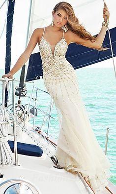 A-Line Chiffon V-neck Long Dress fashion02364  I WANT THIS