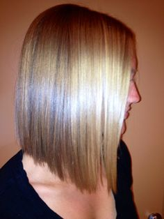 LOVE highlights in a sleek Lob like this. I may do this in Oct....