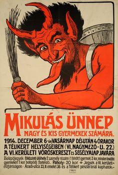 Ismeretlen művész: Mikulás ünnep (1914) Vintage Magazine, Matchbox Art, Vintage Posters, Retro Posters, Picture Cards, Illustrations And Posters, Vintage Advertisements, Old Photos, Graffiti
