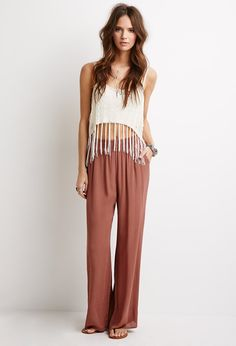 Crinkled Palazzo Pants - NEW ARRIVALS - 2000055571 - Forever 21 UK