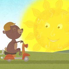 Video stills of the nursery rhyme Mister Sun Rhymes Video, Golden Sun, Kids Songs, Nursery Rhymes, Pikachu, Singing, Lyrics, Make It Yourself, Fictional Characters
