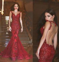 Sexy vestido de noche largo 2016 Sheer o-cuello de baile vestido sirena Vestidos Fiesta roja Vestidos de Fiesta lentejuela traje Formal de soiree(China (Mainland))