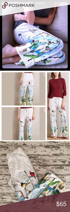 🐿Anthropologie Polaire flannel sleep pants🐿 You won't have to go far to escape with these NWOT Anthropologie sleep/lounge pants in a thick, plush white flannel. NWOT, never worn. A variety of Adorable forest animals help keep you cozy in wintertime! 🐿 🐇 🐻 Anthropologie Intimates & Sleepwear Pajamas