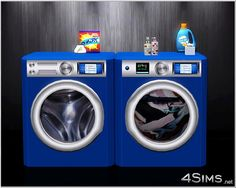 """Washing machine and dryer combo clutter - 4Sims The """"Machines"""" and cluter look awesome #sims3cc"""