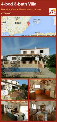 4-bed 3-bath Villa in Moraira, Costa Blanca North, Spain ►€760,000 #PropertyForSaleInSpain