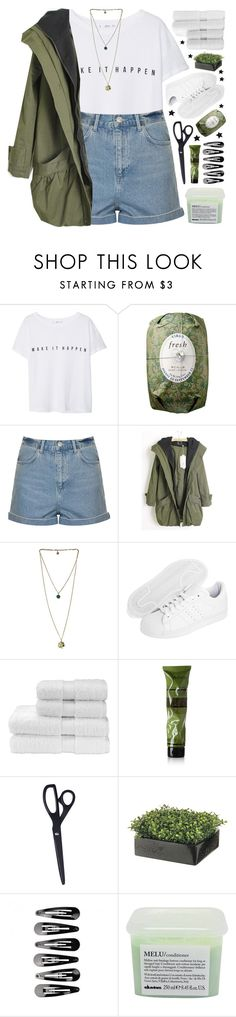 """""""MAKE IT HAPPEN"""" by emmas-fashion-diary ❤ liked on Polyvore featuring MANGO, Fresh, Topshop, adidas Originals, Christy, Aesop and Davines"""