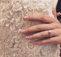 The New French Manicure You Need For Your Wedding Day | https://www.theknot.com/content/marchesa-2016-nail-look