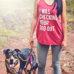 I Was Checking Your Dog Out Women's Racerback Tank