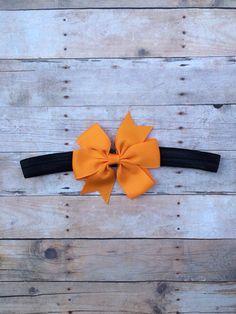 Halloween Bow Headband  Orange Pinwheel by TheBloomingLilac2013
