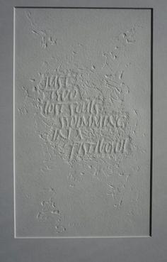 Keeper of letters. Emboss, Letters, Artist, Emboss Painting, Letter, Artists, Letterpress, Calligraphy