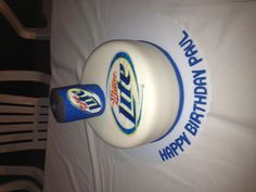Miller lite beer cake