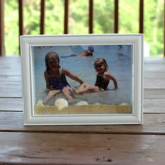 We Made That: Beach Shadow Box | Use a shadow box, sand, and seashells to create a 3D summer photo memory!