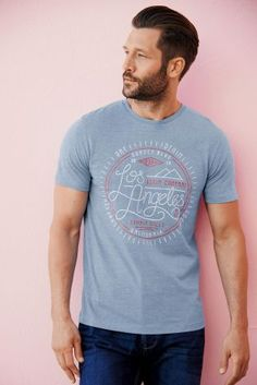 Buy Blue Los Angeles T-Shirt from the Next UK online shop