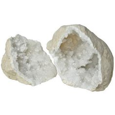 White shimmering gem interiors contrast against matte stone shells. Use as bookends, for jewelry or simply as a glittering display. Natural Cut Crystal Gem Stones *Sizes and shapes will vary Approxima