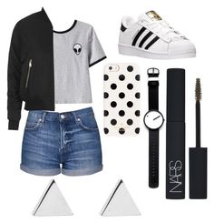 Untitled #23 by hannah-s-b on Polyvore featuring polyvore, moda, style, Chicnova Fashion, Topshop, adidas, Jennifer Meyer Jewelry, Rosendahl, Kate Spade, NARS Cosmetics, fashion and clothing