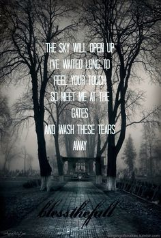 blessthefall meet me at the gates ending