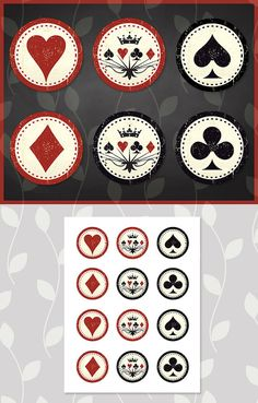 Printable Casino Night Poker Playing Card by ApothecaryTables
