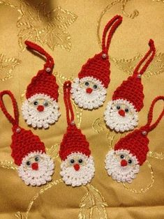 Crochet Сhristmas tree ornaments, Xmas tree decorations, set of New Year decor, wall or decor hanging, white Crochet Snowflake Pattern, Christmas Crochet Patterns, Holiday Crochet, Crochet Snowflakes, Christmas Knitting, Crochet Doilies, Chat Crochet, Crochet Santa, Crochet Chart