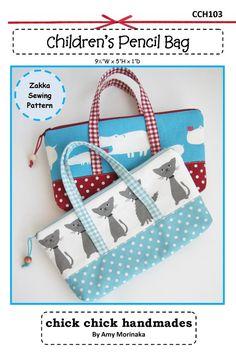 PDF Infantil Lápis Bag Costura Padrão - Zakka - Download imediato