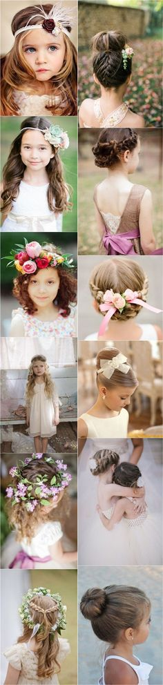 cute little girl hairstyles-updos, braids, waterfall