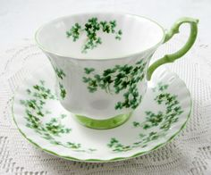 Royal Albert Shamrock Tea Cup and Saucer Vintage by TheAcreage
