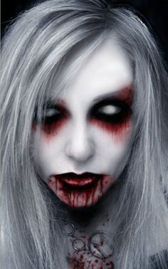 Are you looking for inspiration for your Halloween make-up? Browse around this website for creepy Halloween makeup looks. Halloween Face Paint Scary, Cute Halloween Makeup, Halloween Makeup Looks, Zombie Face Paint, Halloween Costume Teenage Girl, Demon Halloween Costume, Scary Face Paint, Halloween Costumes Women Scary, Horror Makeup
