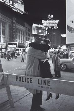 New Year's Eve, Times Square 1959. by Henri Cartier Bresson
