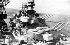 Forward 15 in turrets of modern Italian battleship Littorio: she and her sisters Vittorio Veneto and (not commissioned till June 1942) Roma were dangerous opponents to the WW1 veterans deployed by the Royal Navy in the Mediterranean.  Littorio was seriously damaged by aerial torpedo attack in the famous Taranto raid of November 1940.