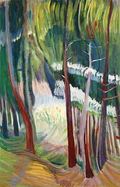 Glade - Emily Carr - The Athenaeum Canadian Painters, Canadian Artists, Post Impressionism, Impressionist Paintings, Emily Carr Paintings, Group Of Seven Paintings, Art For Art Sake, Art World, Female Art