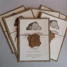 burlap invitations