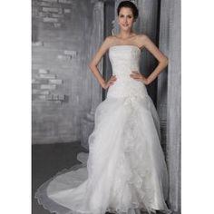 Material de organza-saia de multicamadas de Flores de lótus e parte superior plissada-Vestido Evasé de saia comprida   €149.99
