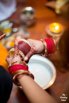 Red Bangles | Chooda Ceremony | Photo by The Wedding Salad